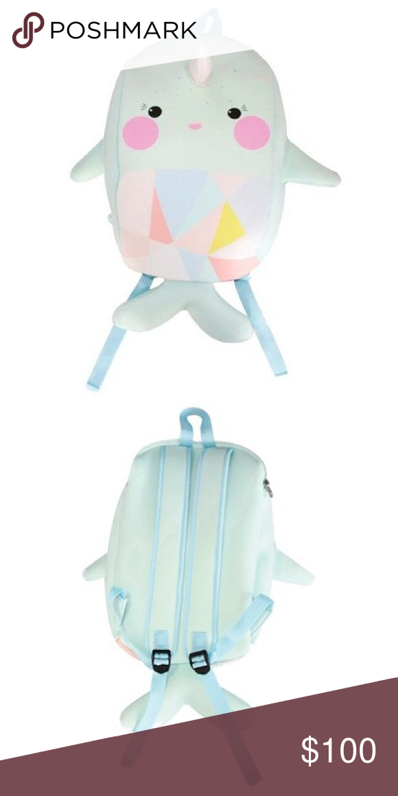b023e8286e4 🌈RARE find🌈 Brand New Narwhal Backpack Rare find Narwhal mint colored  backpack Accessories Bags