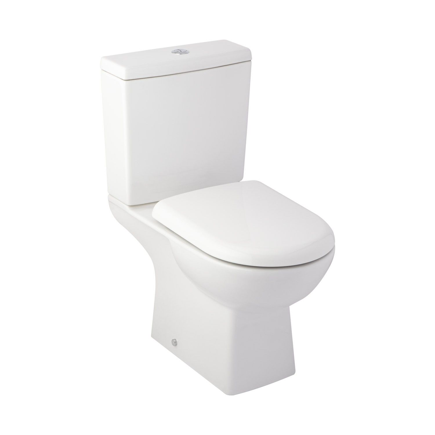 Stapleton Ii Dual Flush European Rear Outlet Toilet Two Piece Elongated White