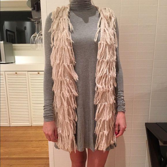 Cream Shaggy Sweater Vest | Shaggy, Coats and Style diary