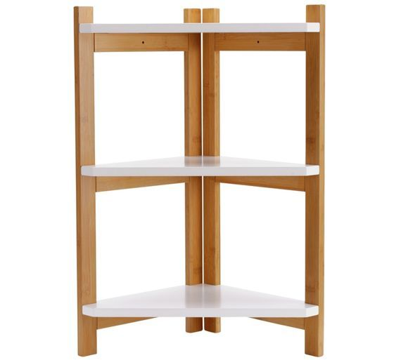Buy Argos Home 3 Tier Bamboo Corner Shelf Unit Two Tone Bathroom Shelves And Storage Units Corner Shelf Unit Bathroom Shelf Decor Bathroom Storage Units