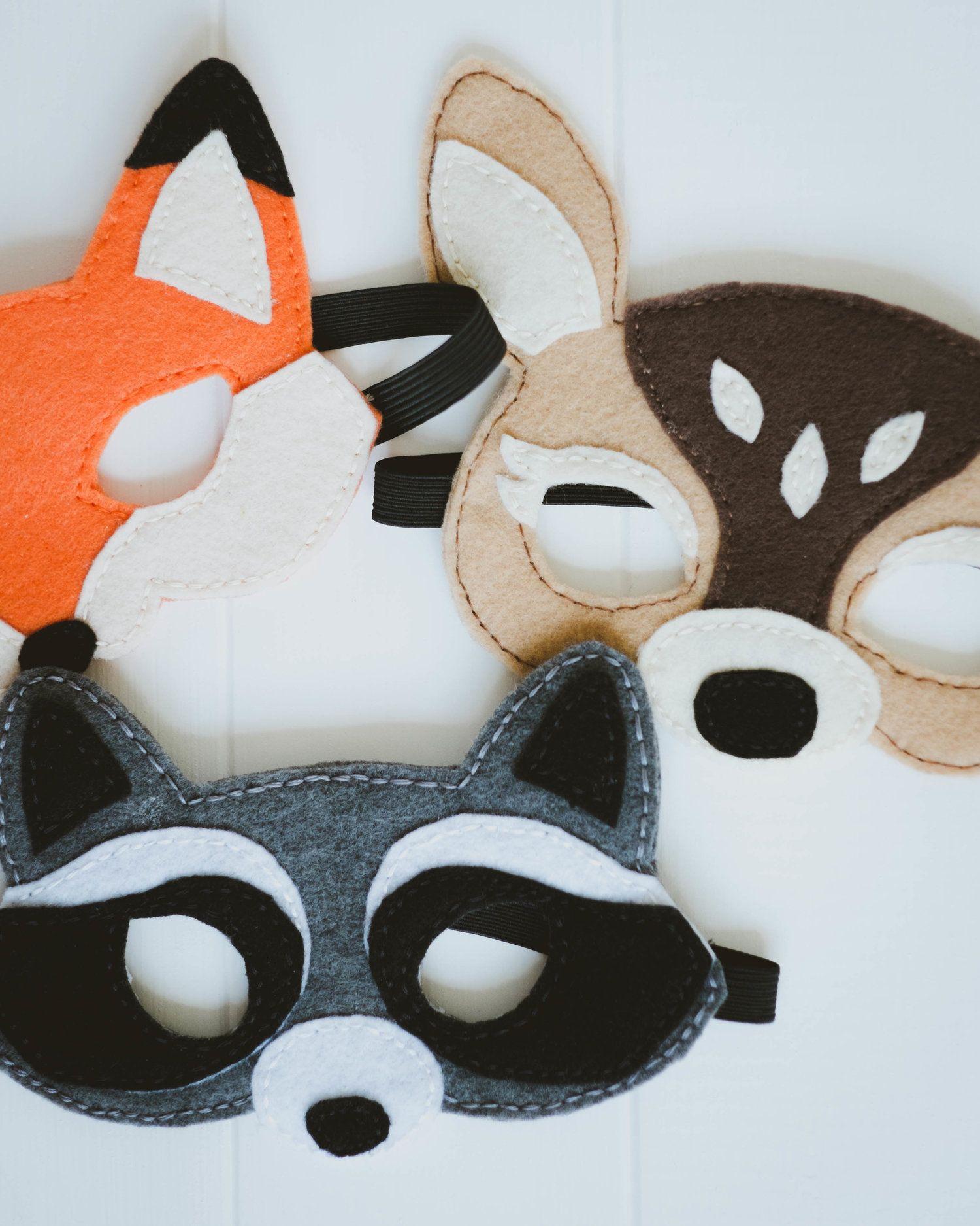 Woodland Creatures Felt Masks