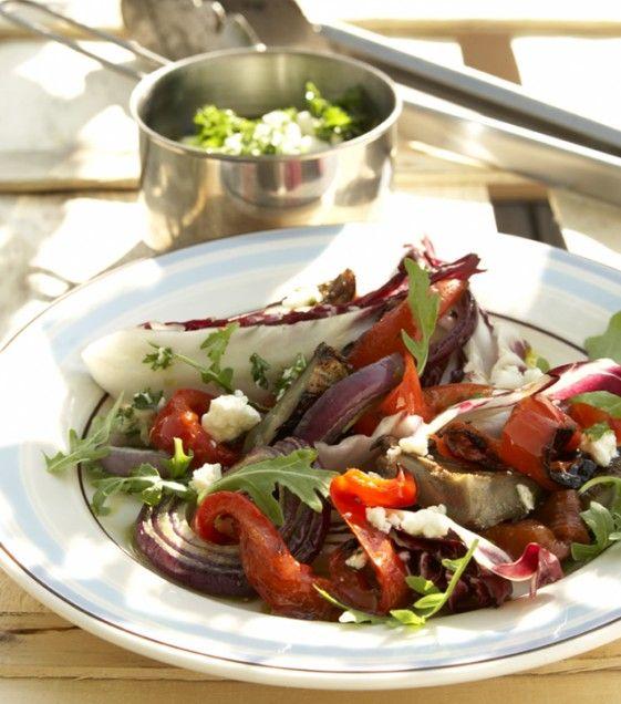 Grilled Artichoke, Arugula, and Radicchio Salad