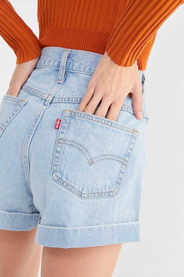 URBAN CLASSICS Ladies High Waist Denim Skinny Pantaloncini