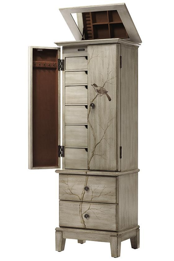 Chirp Pewter Jewelry Armoire 1092210310 Jewelry Armoire Makeover Painted Jewelry Armoire Jewelry Armoire