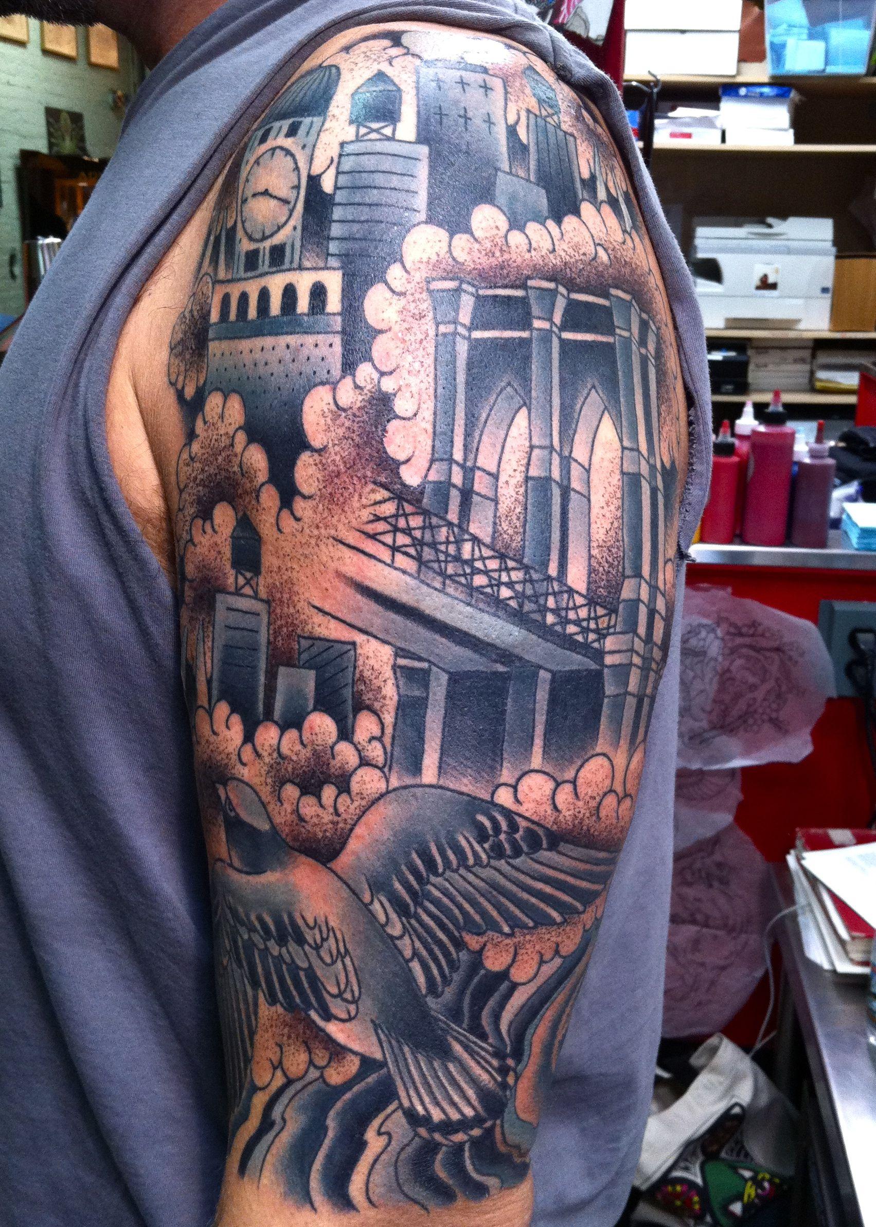 Get back to work tattoos top tattoos bridge tattoo