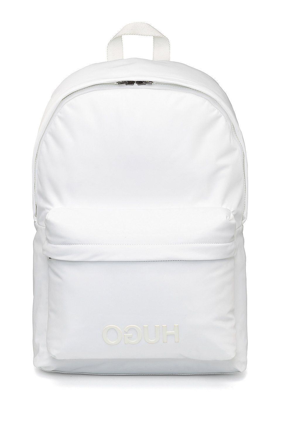 1e826f113c88 HUGO BOSS Reversed-logo backpack in nylon gabardine - White Backpacks from  HUGO for Men