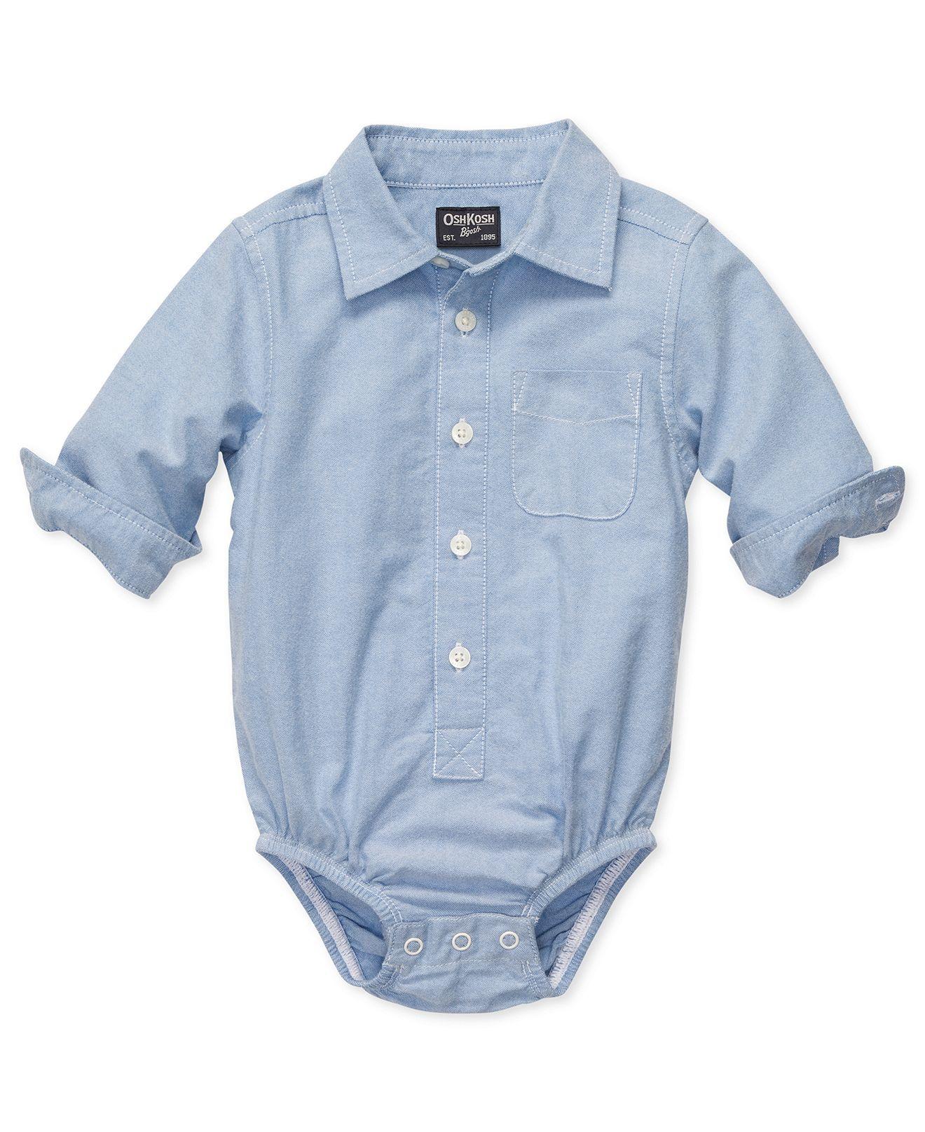 Osh Kosh Bgosh Baby Bodysuit Baby Boys Poplin Bodysuit Kids Baby