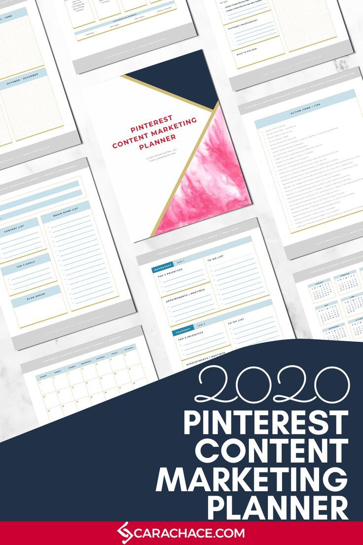 The Pinterest Content Marketing Planner is the only
