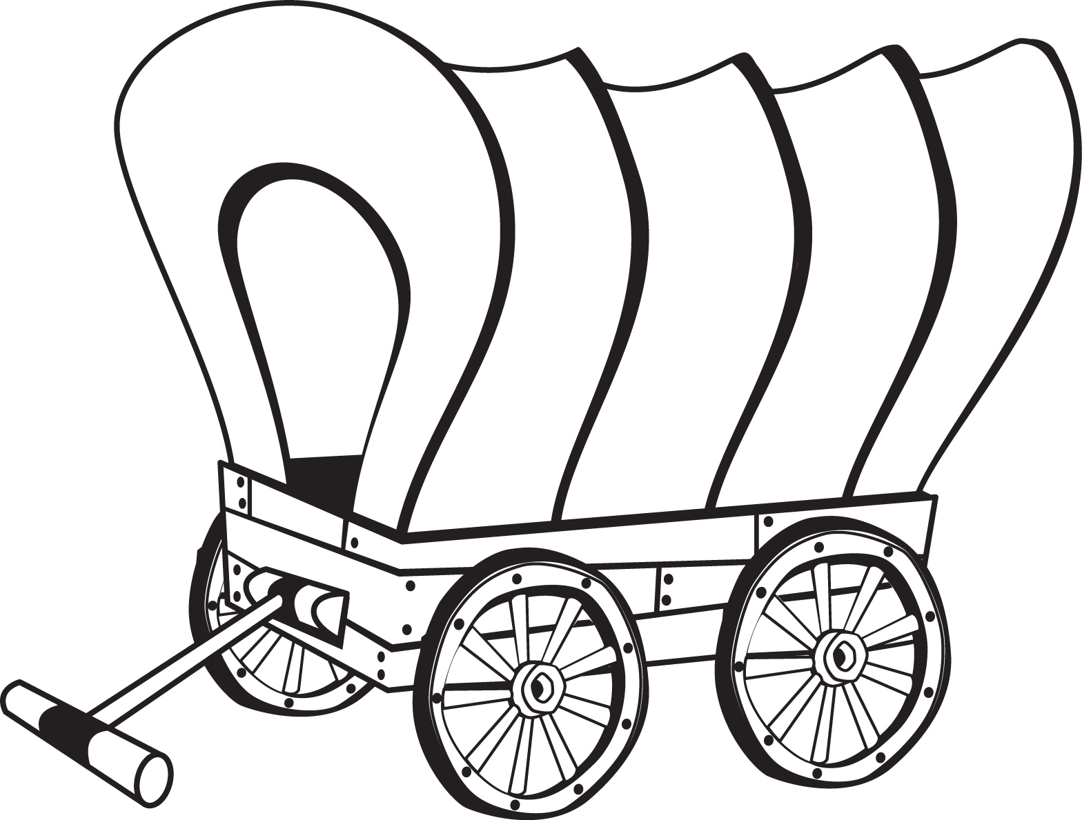 Covered Wagon Coloring Page | Pioneer Unit | Pinterest | Covered ...