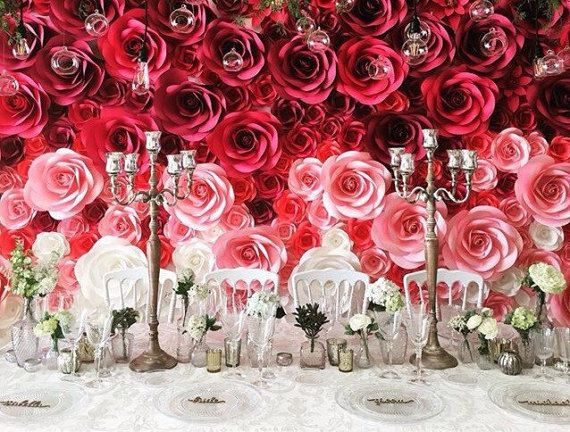 Wedding backdrop large paper flowers paper flower backdrop wedding backdrop large paper flowers paper flower backdrop mightylinksfo