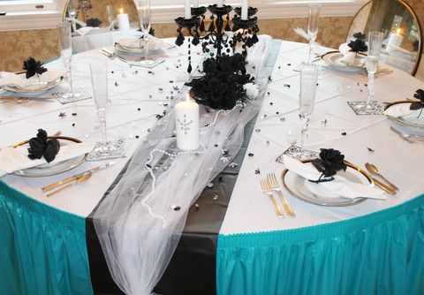 wedding receptions with plastic tablecloth | ... with plastic linen look table covers and plastic table skirts & wedding receptions with plastic tablecloth | ... with plastic linen ...