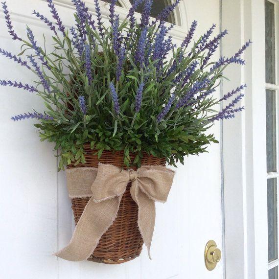 Summer Wreath-Lavender Wreath-Lavender by ReginasGarden on Etsy