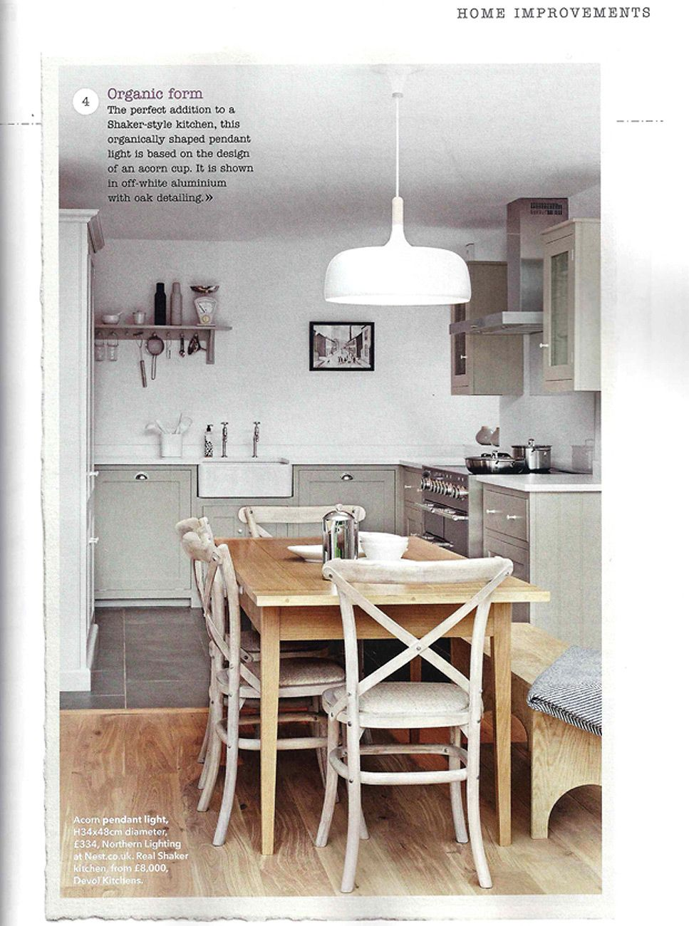 Country Homes & Interiors mag loves deVOL\'s Silverdale Shaker ...