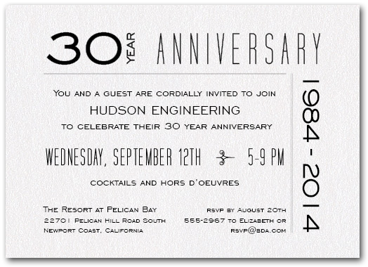 Anniversary Shimmery White 7 Business Invitation Anniversary Invitations Business Anniversary Ideas
