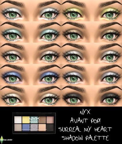 Sims 4 CC's - The Best: Eyeshadows by Bernies Simblr