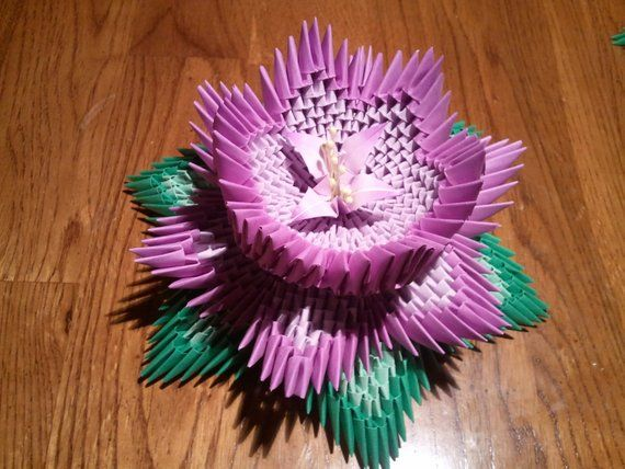 Tutorial How To Make 3d Origami Lotus Flower Products 3d
