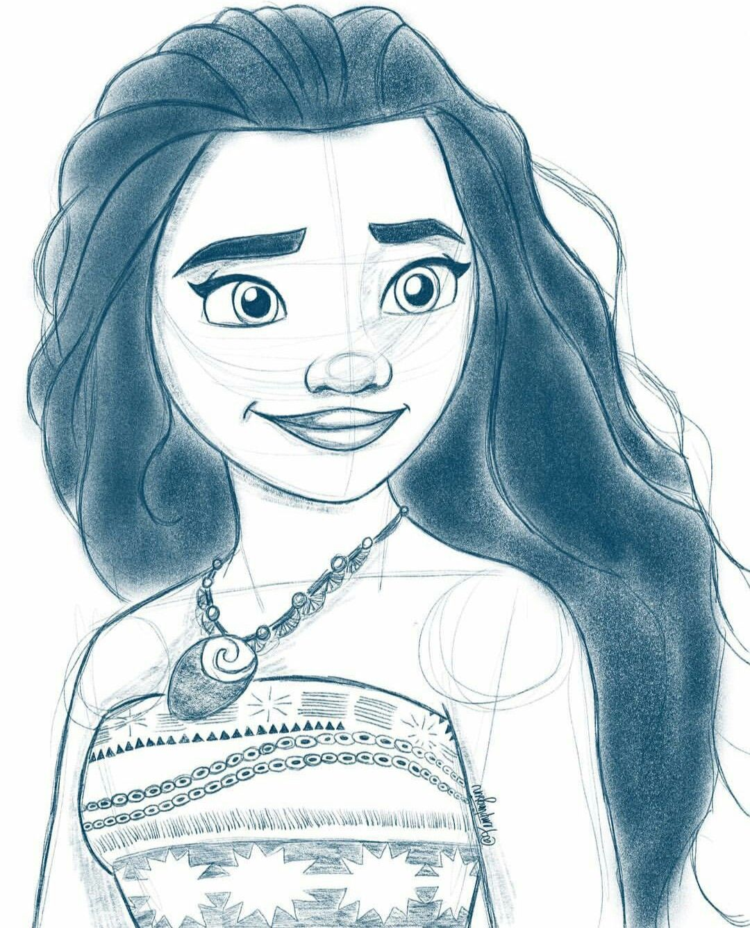 40+ Moana sketch information
