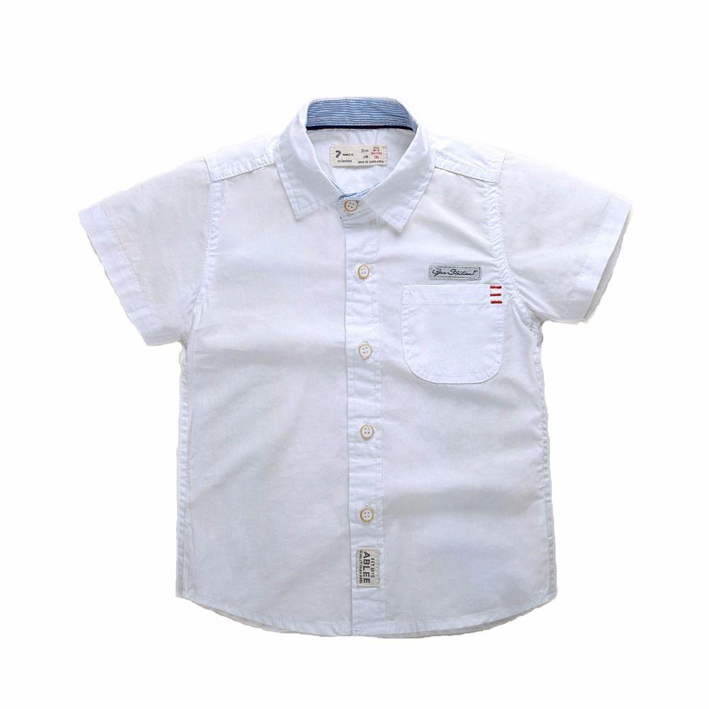 Baby Boys Shirt Casual Children S Short Sleeved Shirt 2017 Brand Design Baby Boy Cotton Sweat Shirt 2 7 Gentleman Kids Blou Kids Blouse Baby Boy Shirts Clothes [ 1000 x 1000 Pixel ]