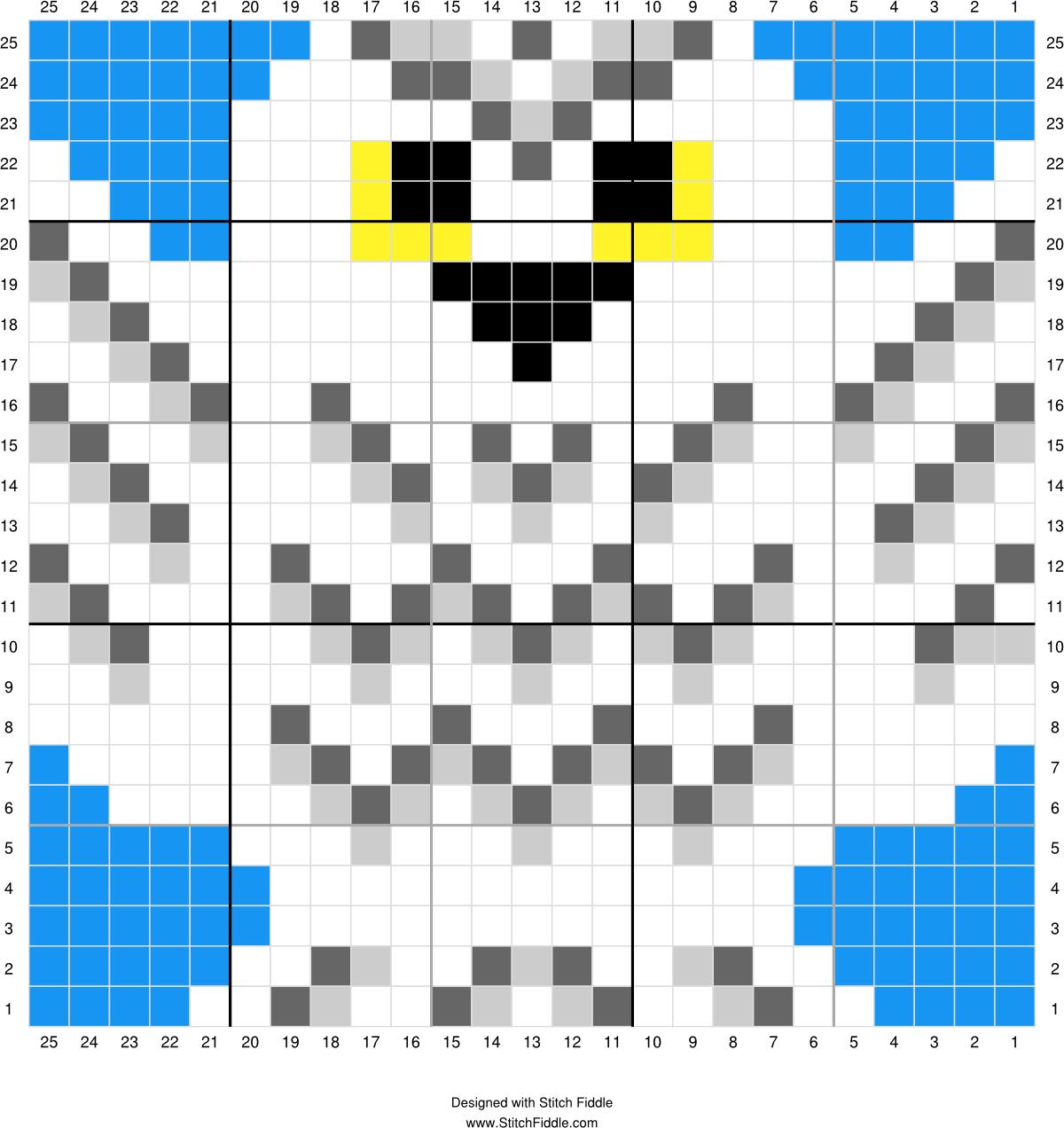 Hedwig | Designed by PixiTrix (Kimberly Allard) | Stitch Fiddle ...