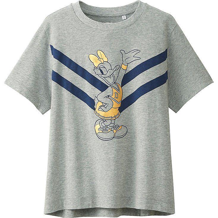 Women Disney Project Short Sleeve Graphic T Shirt Uniqlo Marvel Fashion Shirts