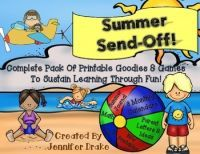 Summer Send Off! Summer Learning Packet of Games, Printables