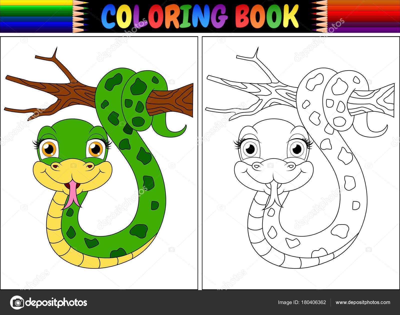Resultado De Imagem Para Desenho Cobra Bonitinha Para Colorir Com