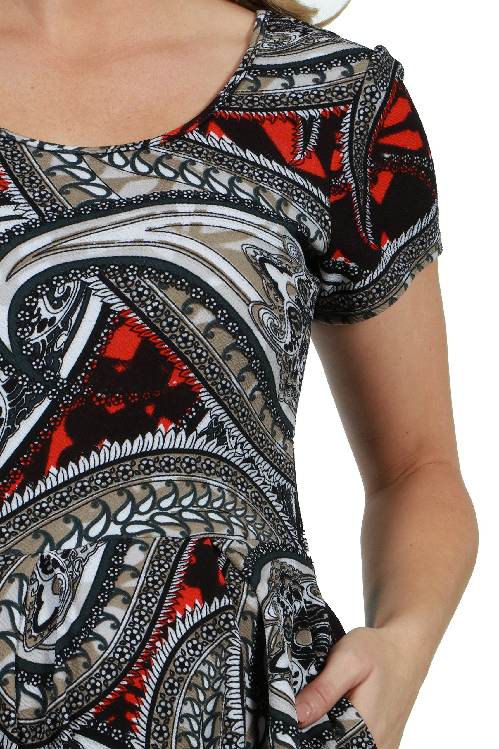 fba32fac62 Maternity Styles - awesome maternity dresses   24Seven Comfort Apparel  Black and Red Fit and Flare Short Sleeve Maternity Mini Dres Large  Multicolor     ...