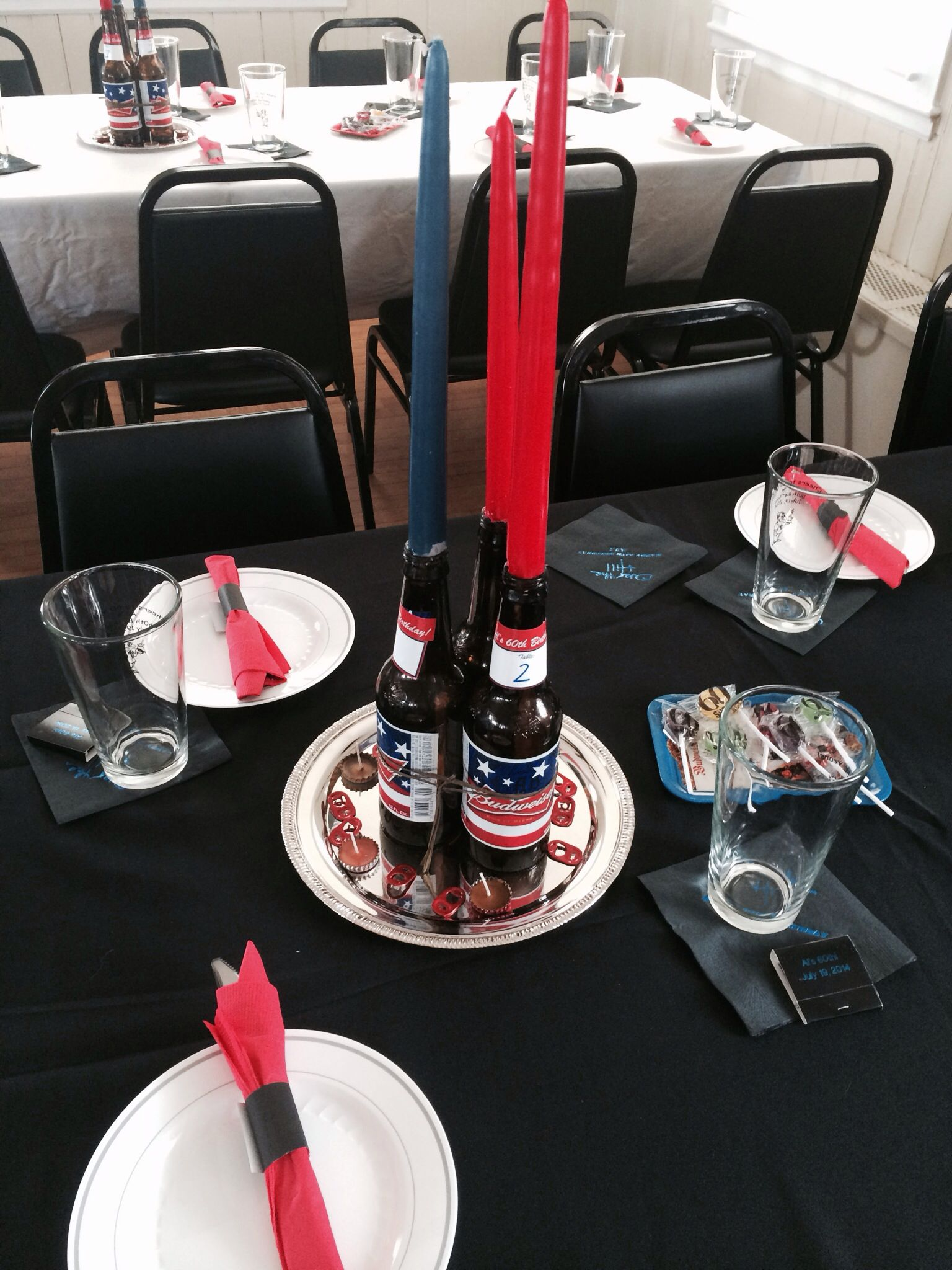 Budweiser Centerpiece Beer bottle centerpiece