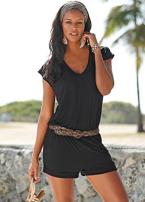 fa4e4b5a8b6 Black Short Playsuit by LASCANA
