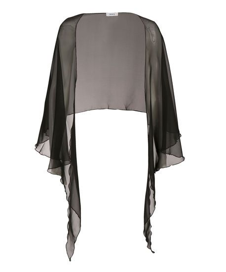Sheer Dress Cover-Up, Black, hi-res