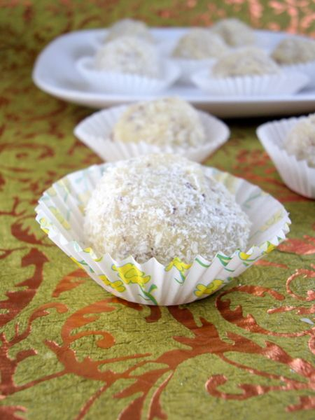 Coconut ladoo recipe eggless desserts festival foods and coconut ladoo indian sweetsindian dessertsindian food recipesindian forumfinder Images