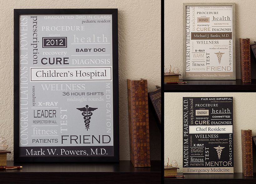 Personalized Doctor Art 12x18 Custom Word Art Print