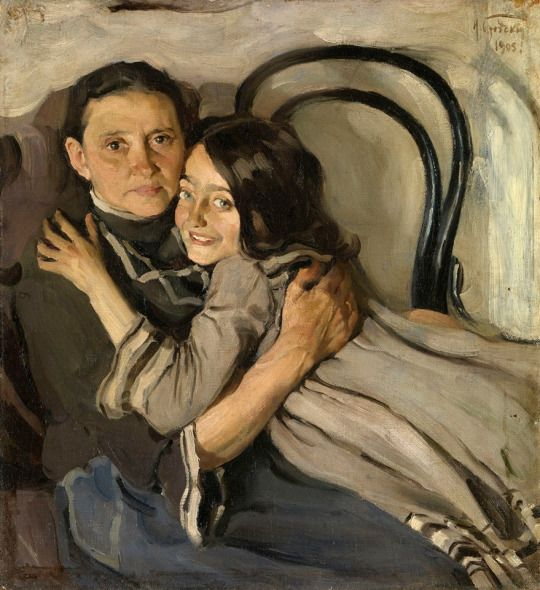 Isaak Brodsky  Portrait of the Artist's Mother and Sister  1905 Oil on canvas, 72 x 66 cm Private collection