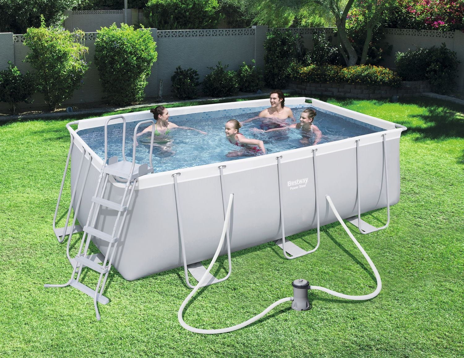 Power Steel Rectangular Pool Set 549x274x122cm