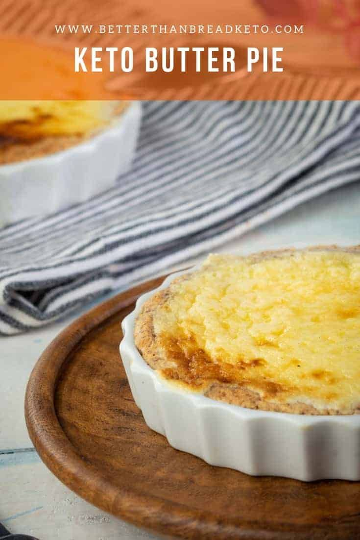Keto Butter Pie Combine several of the most staple keto ingredients together and what do you get? A buttery, delicious keto butter pie of course!#keto