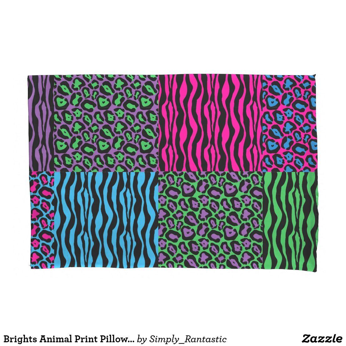 Brights Animal Print Pillow Case Set   Animal prints, Pillow cases ...