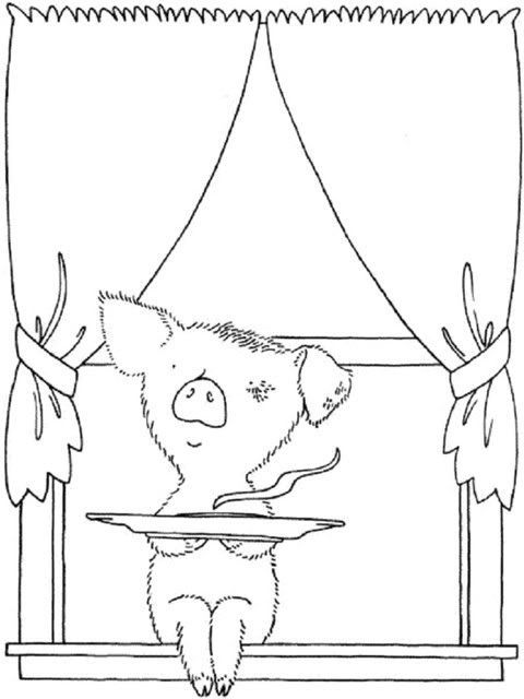 If You Give A Pig Pancake Coloring Page