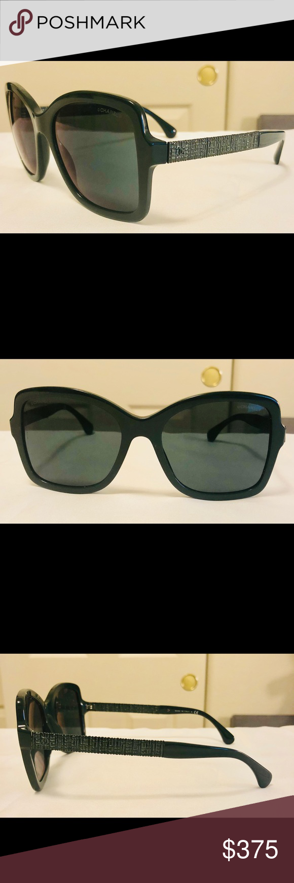 580b8f6bb1 New Square Forest Green Chanel Sunglasses 5383 Coming CHANEL Accessories  Sunglasses