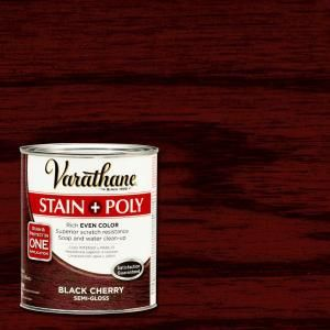 Varathane 1 Qt Black Cherry Stain And Polyurethane 2 Pack 266155 In 2020 Staining Wood
