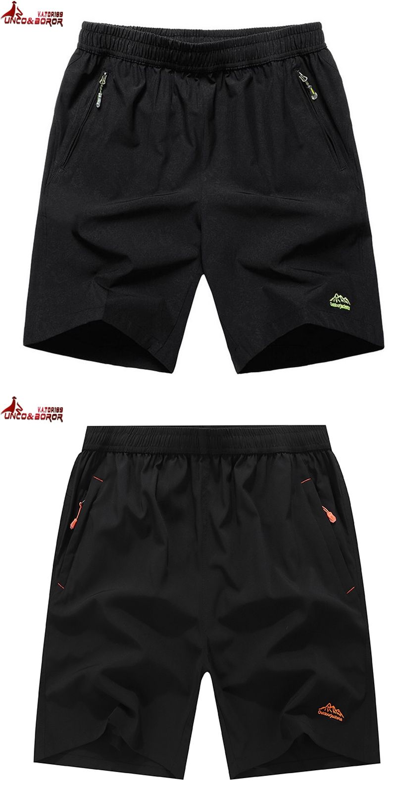 4c06c3b0a3e UNCO BOROR Summer Solid Leisure Men Shorts Casual Quick-drying Short  Trousers loose Elastic Waist short big size 9XL