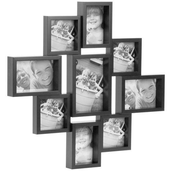 City 9 Multi Photo Frame - Black | Wall collage | Pinterest ...