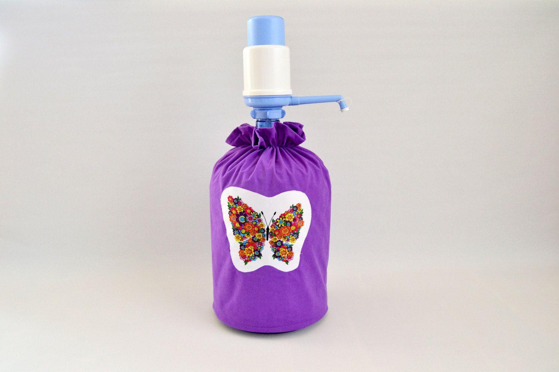5 gallon hand press manual pump dispenser purple bottle