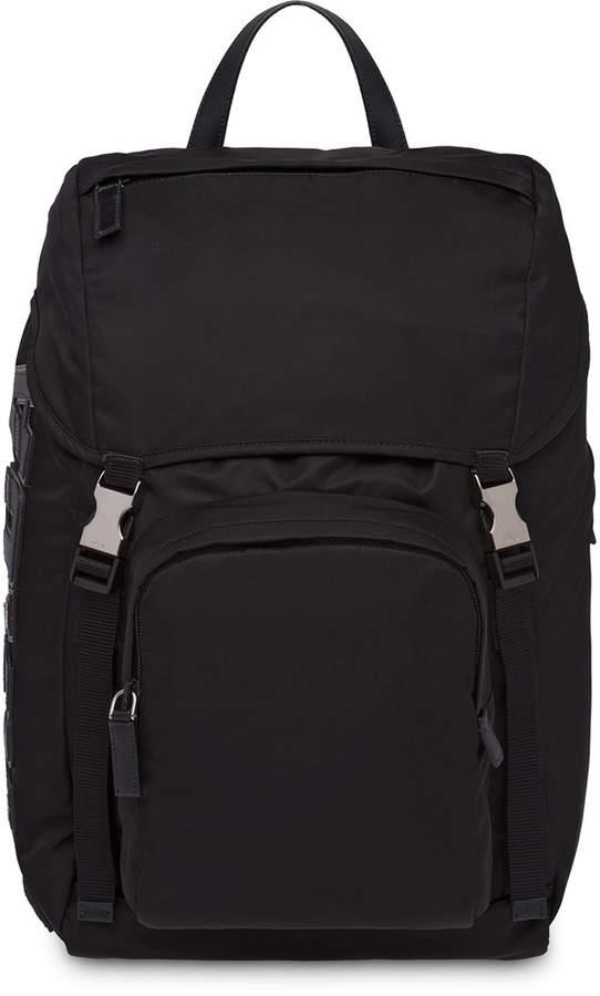 Prada Logo Backpack Appliqué Logo Products Prada Appliqué 54gndq5