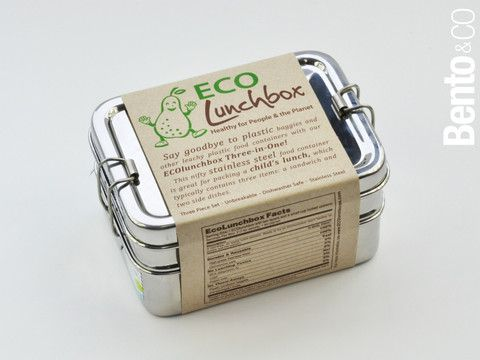 Eco Lunchbox 3 in 1 - stainless steel, unbreakable, dishwasher safe, not microwave safe, not leak-proof. Made in India
