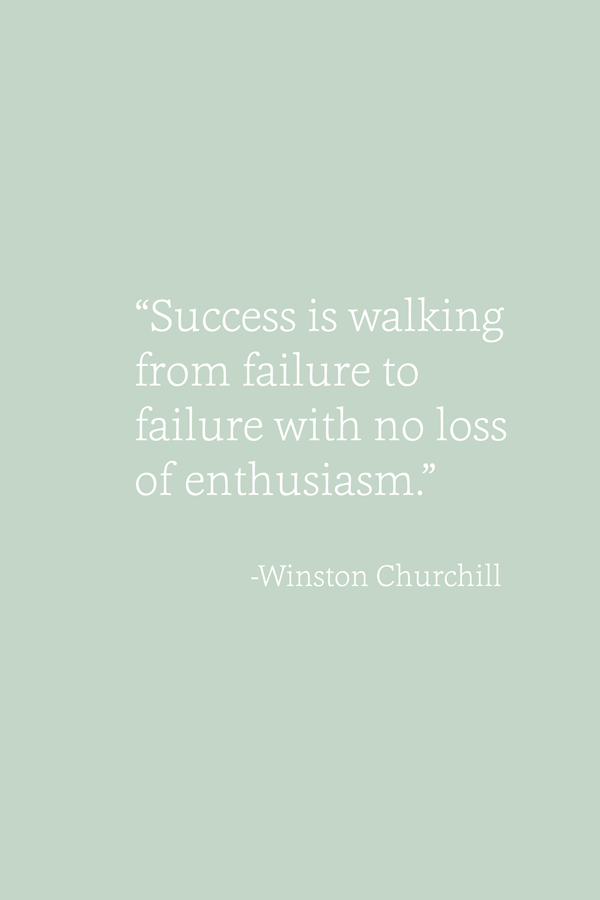 """Success is walking from failure to failure with no loss of enthusiasm"" - Winston Churchill - inspirational motivational life quotes for entrepreneurs and small business owners"