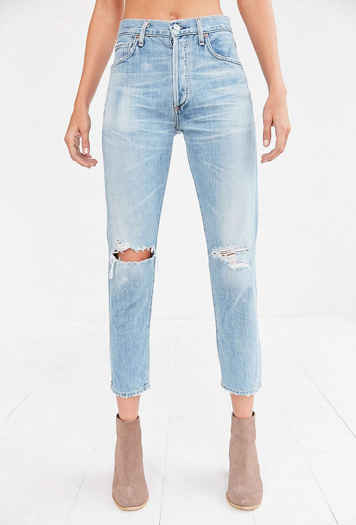 Spring Denim Shopping Guide | Citizens of Humanity Liya High-Rise Classic Fit Jean, $258; at Urban Outfitters