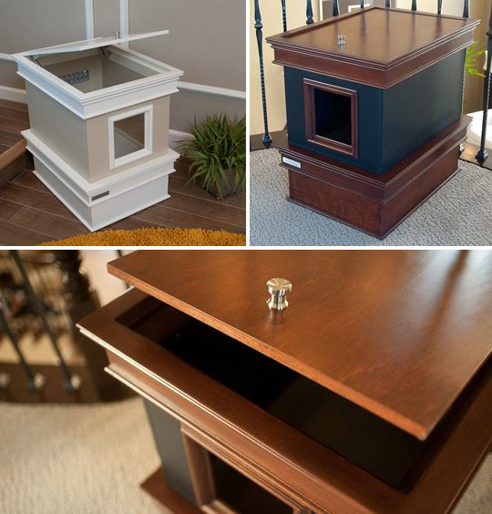 Great Handcrafted Luxury Cat Furniture Cat Box Hider