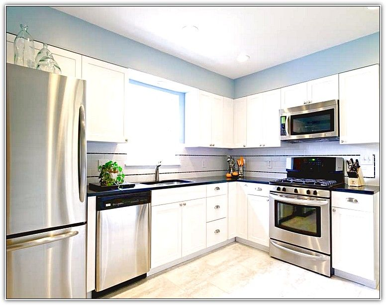White Cabinets Stainless Appliances Online Information