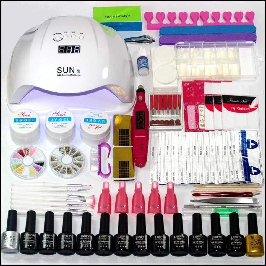 Manicure Set Choose 12 Colors Gel Polish Base Top Coat