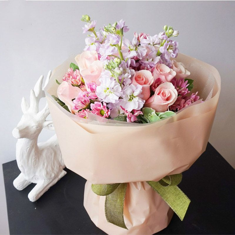 Korean High Quality Flowers Wrapping Paper Waterproof Matte Papers Gift Bouquet Packaging Paper Material Flowers Bouquet How To Wrap Flowers Paper Flower Decor